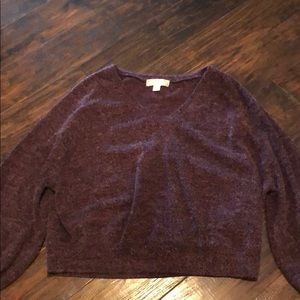 burgundy stylish sweater